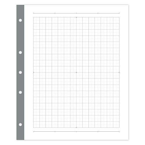 Signature Smart Grid Filler Paper, White/Gray