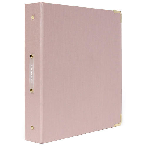 Signature Three-Ring Binder, Pink