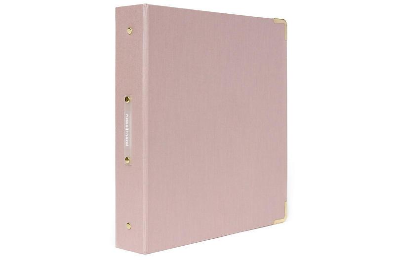 Signature Three-Ring Binder, Pink