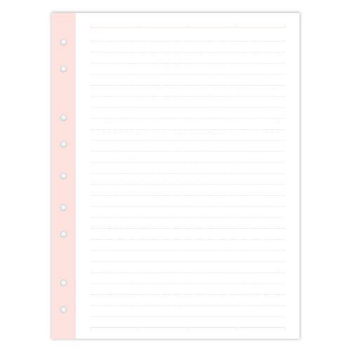 Mini Filler Paper, White/Pink