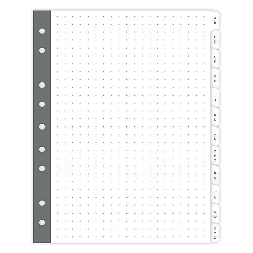 Mini Smartdate A-Z Tabs, White/Gray