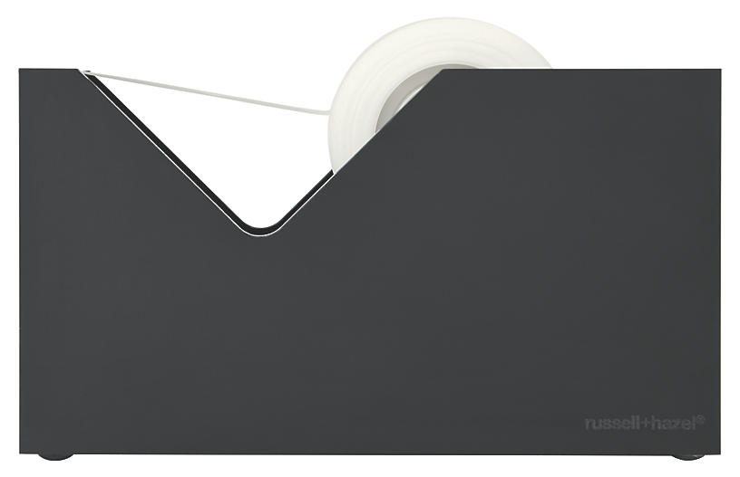 Acrylic Noire Tape Dispenser, Black