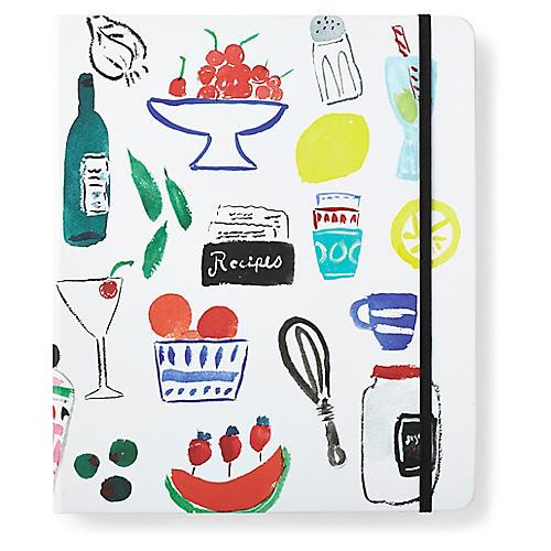 Bella Pantry Recipe Book, White/Multi