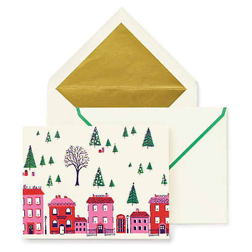 S/10 Holiday Village Card Set