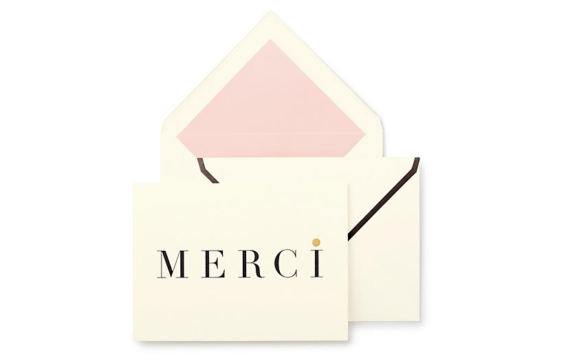 S/10 Merci Note Cards