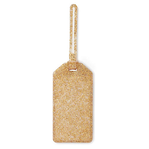 Glitter Luggage Tag, Gold