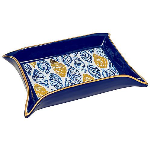 Drop In Trinket Tray, Blue/White