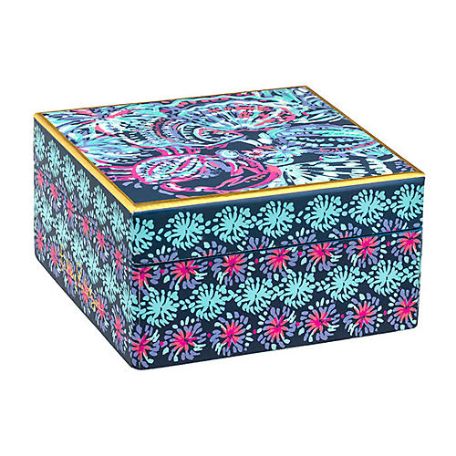 Gypsea Girl Lacquer Box, Blue/Multi