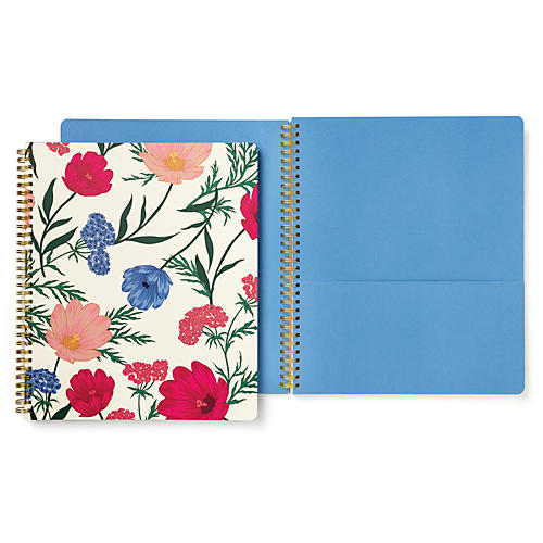 Blossom Spiral Notebook, Natural/Multi