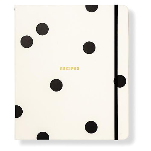 Deco Dot Recipe Book, Black/White