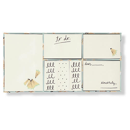 Asst. of 7 On Point Sticky Notes, Cream/Blue