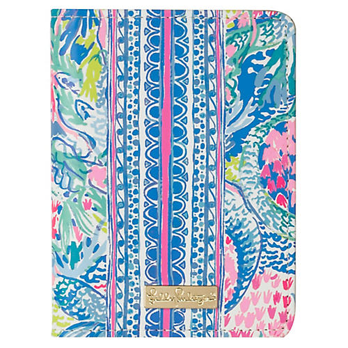 Mermaids Cove Passport Cover, Blue/Multi