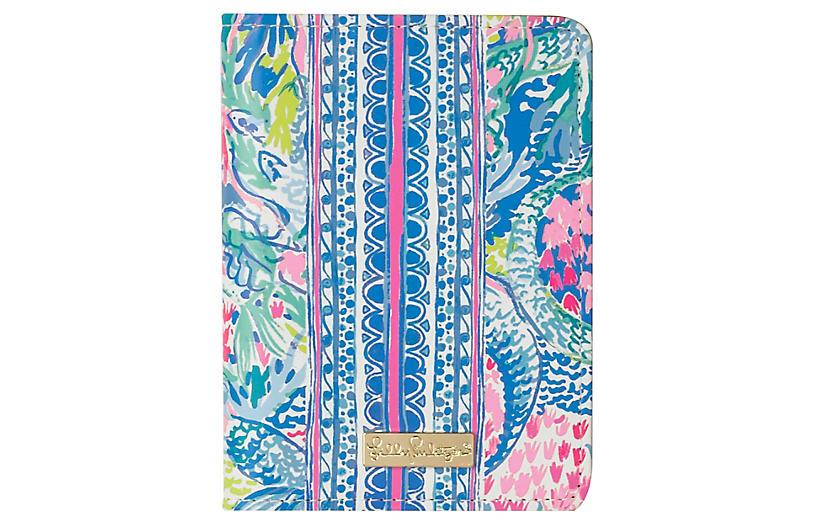 Mermaids Cove Passport Cover, Blue/Multi
