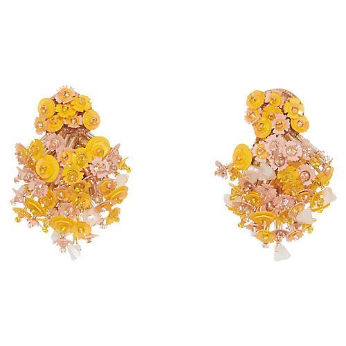Nova Burst Earrings, Pink/Yellow