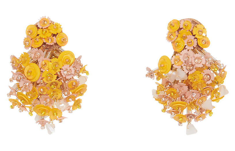 Nova Burst Earrings, Pink/Yellow