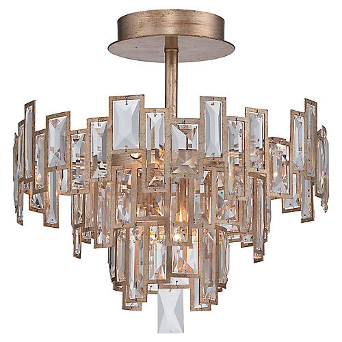 Bel Mondo 5-Light Semi-Flush Mount, Luxor Gold