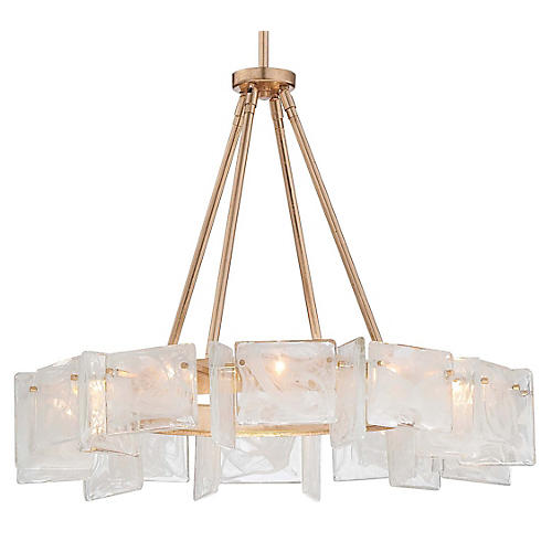 Artic Frost Chandelier, French Gold