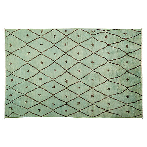 "5'10""x9'1"" Moroccan Rug, Mint"
