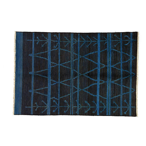 "6'3""x9'1"" Moroccan Rug, Blue"