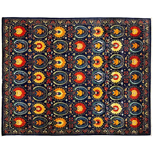 "9'1""x11'5"" Genna Rug, Black/Multi"