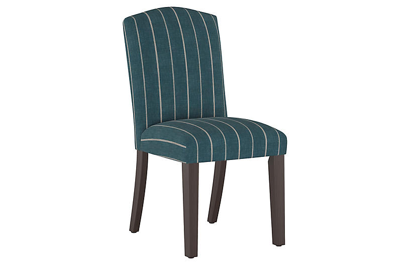 Marie Side Chair, Fritz Indigo