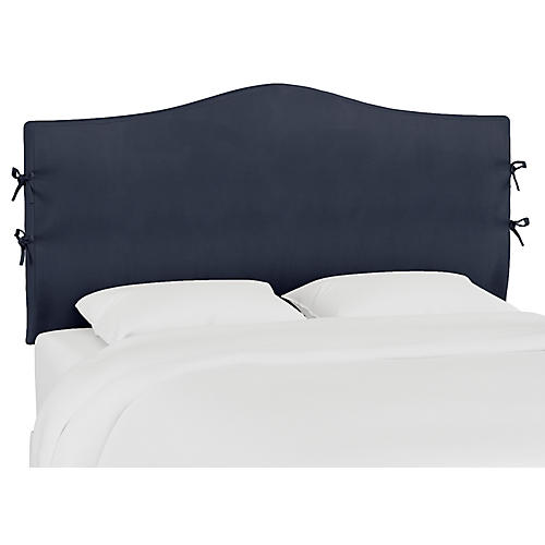 Eloise Slipcover Headboard, Duck Navy