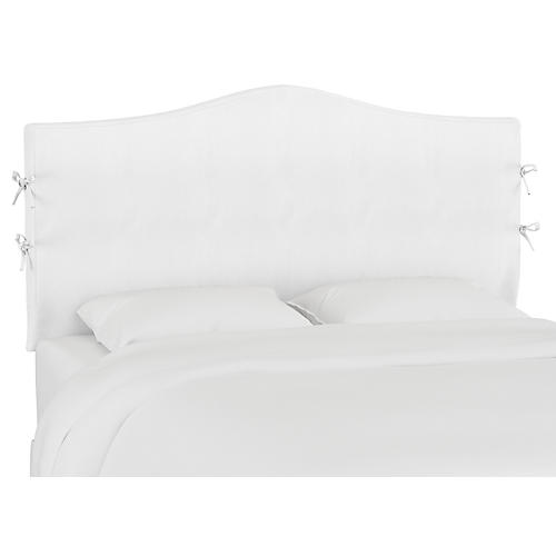 Eloise Slipcover Headboard, Duck White