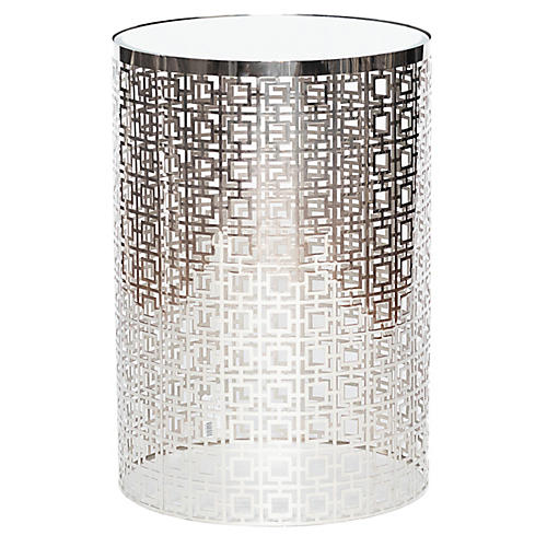 Leah Side Table, Nickel