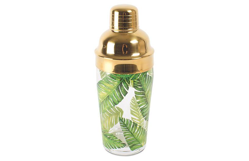 Botanical Shaker, Green/Gold