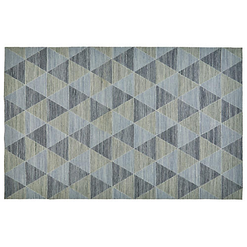 Kochi Flat-Weave Outdoor Rug, Blue