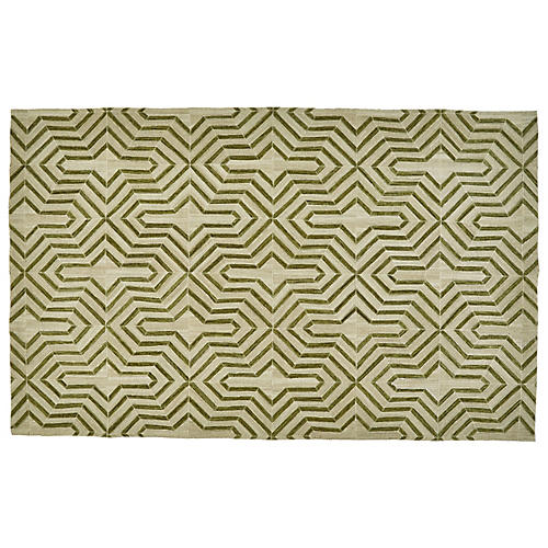 Delhi Flat-Weave Outdoor Rug, Green