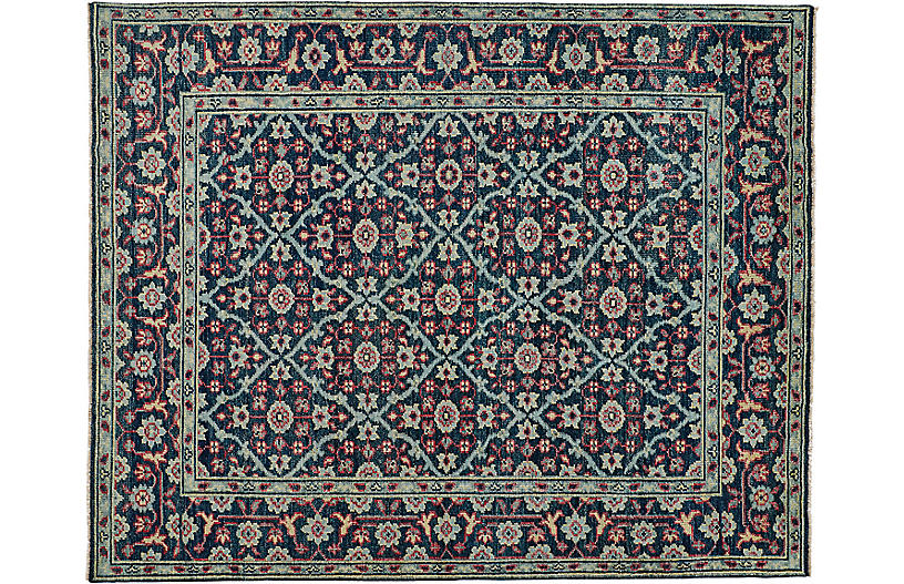 Salena Hand-Knotted Rug, Navy/Multi