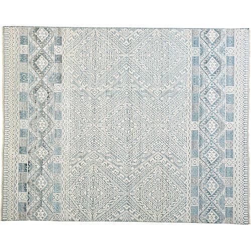 Anders Rug, Gray/Blue