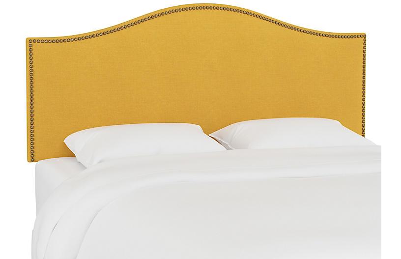 Tallman Headboard, Mustard Linen