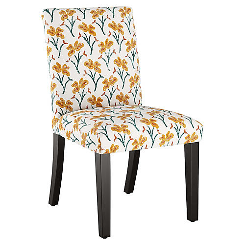 Shannon Side Chair, Marigold Floral