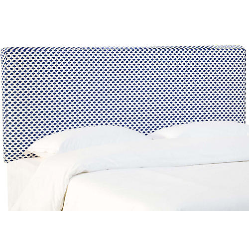 Macy Headboard, Navy Dot