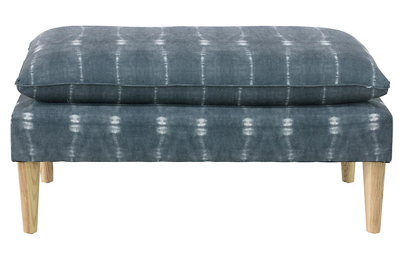 Ella Pillow-Top Bench, Indigo