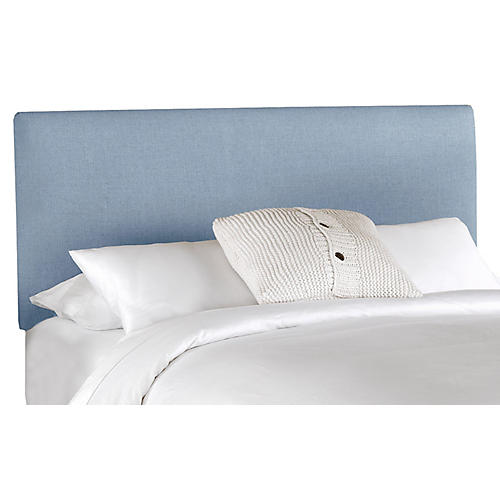 Novak Headboard, Light Blue Denim Linen