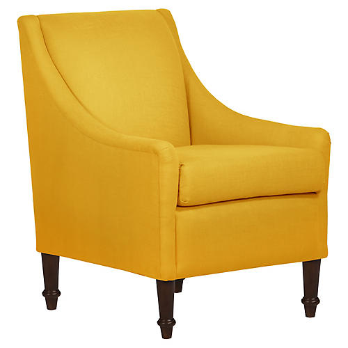 Holmes Accent Chair, Mustard