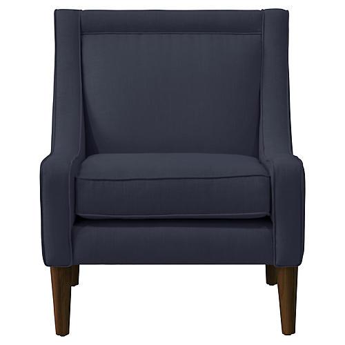 Scarlett Accent Chair, Navy