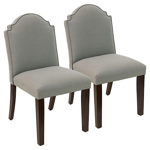 S/2 Elloree Side Chairs, Gray