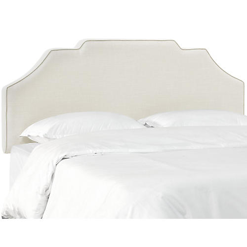 Maren Notched Headboard, Talc