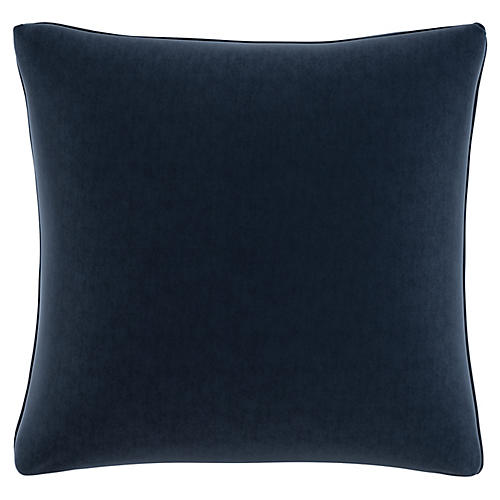 Zett 20x20 Pillow, Navy Velvet