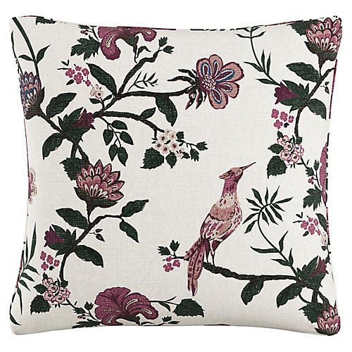 Shaana 20x20 Pillow, Berry/White