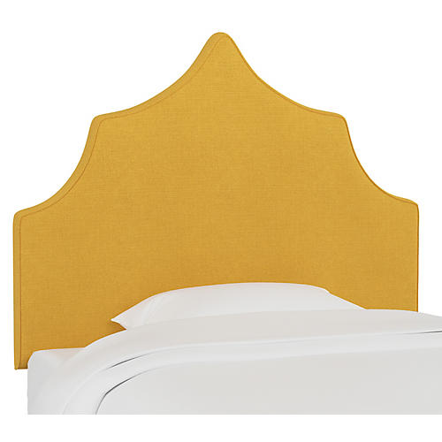 Camille Kids' Headboard, Mustard Linen