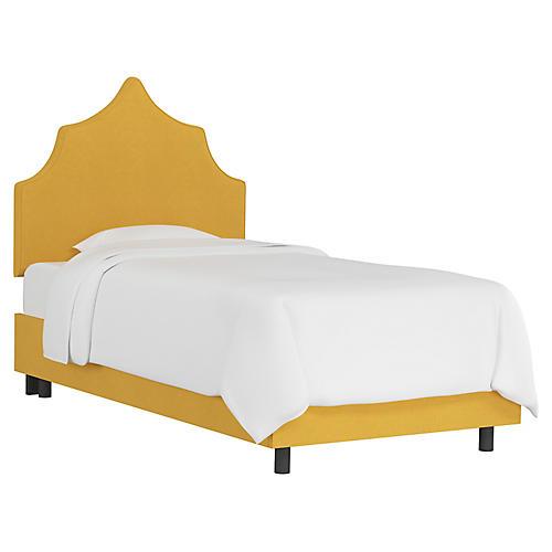 Camille Kids' Bed, Mustard Linen