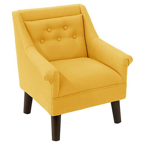 Bella Kids' Accent Chair, Mustard Linen