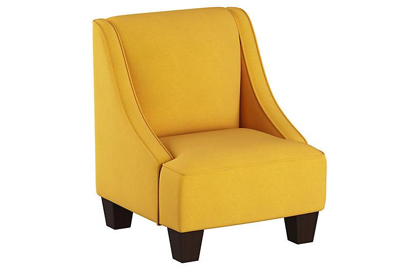 Fletcher Kids' Accent Chair, Mustard