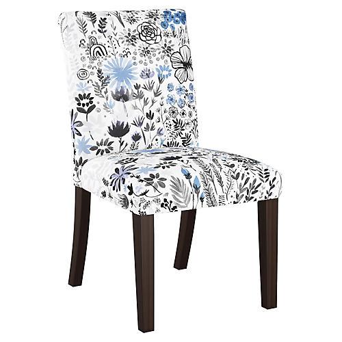 Kean Side Chair, Winter Blue