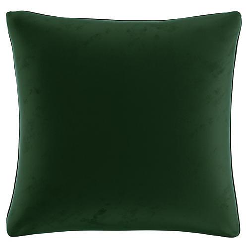 Zett 20x20 Pillow, Emerald Velvet